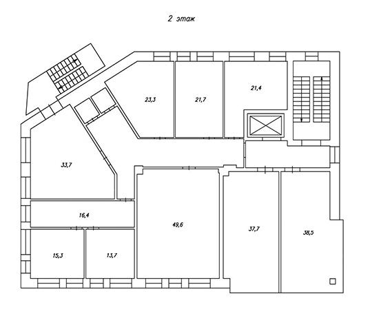 план 2-го этажа бц норд фото